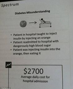 That'll be why their insulin wasn't working: One poor diabetes sufferer really did get the wrong end of the stick when they attempted to inject their orange instead of themselves