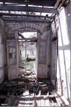 in ruins