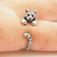 Leopard+Animal+Wrap+Ring+-+Zilver+van+chengxun+op+DaWanda.com