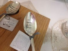 Every time Dad eats his Frosties, he'll know how much you care! (stamped spoon from LaDeDa Living)