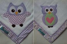 Kit Fralda de Boca com 02 unidades em tecido duplo (04 camadas para melhor absorção) 100% algodão com patch apliqué e bainha em tecido.  *As fraldinhas também podem ser personalizadas escolhendo o tema e a cor do tecido para montar o kit. R$ 44,90
