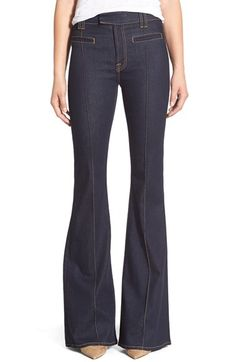 7 For All Mankind® 'The Pintuck' Trousers (True Rinsed) available at #Nordstrom