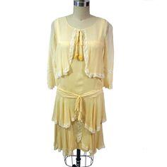 Fab.com | '20s Silk & Lace Trim Day Dress