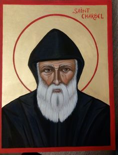 Saint Charbel Makhlouf (Liban) St Charbel, Style Icons, Catholic, Saints, Movie Posters, Painting, Art, Art Background, Film Poster
