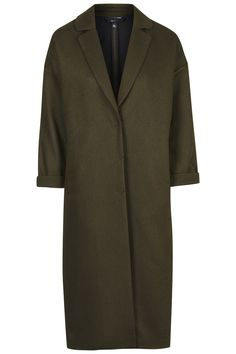 Wool Blend Split Back Duster Coat - Topshop