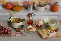 Miniature Making Apple Butter Jam Set by CuteinMiniature