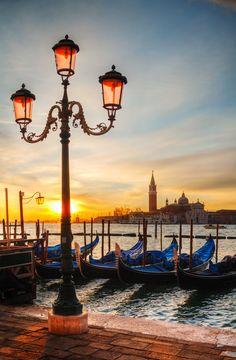 Venice - Grand Canal Gondolas