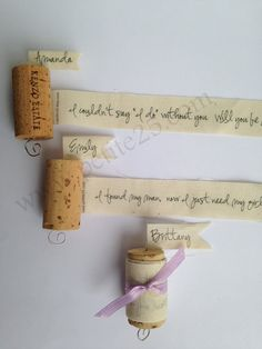 Set of 5 Wine Cork Bridesmaid Proposal  Will you be my by Petite25