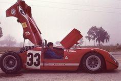 L'Alfa Romeo Tipo 33/3 de Toine Hezemans i Masten Gregory, 3º a les 12 hores de Sebring de 1970