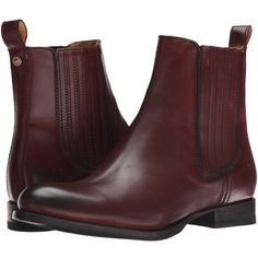 Frye Jamie Chelsea Women's Pull-on Boots ($348) ❤ liked on Polyvore featuring shoes, boots, ankle booties, ankle boots, leather bootie, leather boots, low heel booties, short heel boots and stretch leather boots