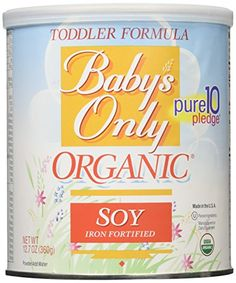 Babys Only Soy Organic Toddler Formula, 12.7-Ounce Canister (Package May Vary) *** Details can be found by clicking on the image.