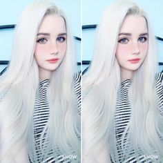 The moste Beautiful girls Silver Blonde Hair, Icy Blonde, Beautiful Asian Girls, Beautiful People, Albino Girl, Ethereal Beauty, Aesthetic Girl, Cute Hairstyles, Cute Girls