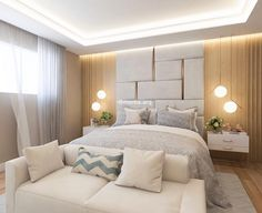 Ideas for apartment bedroom design layout headboards Luxury Bedroom Design, Apartment Interior, Living Room Decor Apartment, Luxurious Bedrooms, Home Decor, Bedroom Inspirations, Modern Bedroom, Bedroom Deco, Apartment Decorating Living