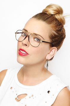 'Henry' Vintage Clear Aviator Glasses - Tortoise/Clear - 2839-3