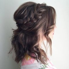 Messy+Half+Updo+With+A+Braid