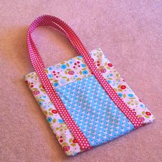 Poochie Bag!  Made with Stampin' Up! Summer Smooch fabric.