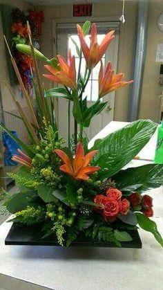 flower arrangment for counter