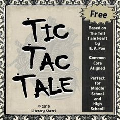 tell tale heart essay questions Tell-Tale Heart - Tic Tac Tale (Grades Core Aligned . Middle School Reading, Middle School English, Middle School Teachers, Teaching Literature, Teaching Writing, Teaching English, Teaching Ideas, Teaching Language Arts, English Language Arts