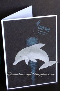 Crazy Crafters March Blog Hop Punch Art Dolphin by Tamie Holt