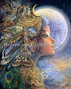 Diana - Painting by Josephine Wall. Chart design by Michele Sayetta for Heaven and Earth Designs.