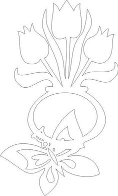 Doodle Coloring, Colouring Pages, Free Coloring, Kirigami, Paper Cutting Patterns, Stencil Patterns, Paper Pot, School Decorations, Spring Art