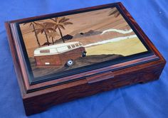 Custom Made A Day At The Beach Jewelry Box