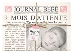 Faire Part Journal, Birth, Anna, Album, The Originals, Face, Scrapbooking, Invitations, Being A Mom