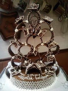 Bread Art, Non Plus Ultra, Wedding Cake Alternatives, Cake Cookies, Soul Food, Fondant, Wedding Cakes, Goodies, Food And Drink