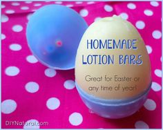 """Although an """"Easter egg"""" lotion bar recipe, these homemade lotion bars are awesome any time of year! They're simple to make, keep well, and work awesome."""
