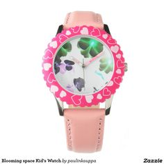 Shop Colorful Heart Filled Kids Watches created by Pick_Up_Me. Zodiac Watches, Pink Watch, Grey Elephant, Giraffe, Pink Love, Purple, Leather, Accessories, Shopping