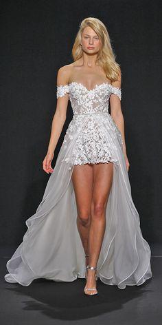 18 Amazing Short Wedding Dresses For Petite Brides ❤ See more: http://www.weddingforward.com/short-wedding-dresses/ #weddings #dress