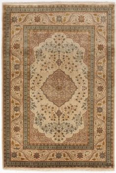 "Hand made Indo-Tabriz rug. 4'x 5'10"" #NasserLuxuryRugs #TraditionalPersianOriental"