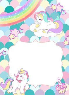 Unicorn Birthday Invitations, Birthday Clipart, Unicorn Birthday Parties, Unicorn Images, Unicorn Pictures, Binder Cover Templates, Binder Covers, Baby Unicorn, Unicorn Art