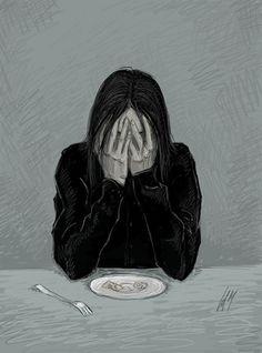 Severus Snape by Umino-aka-Morskaya on DeviantArt Sad Drawings, Dark Art Drawings, Art Drawings Sketches, Dark Art Illustrations, Illustration Art, Meaningful Drawings, Deep Art, Arte Obscura, Sad Art