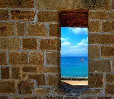 Window To The Sea northern coast of Israel Bustan HaGalil, Israel by NatashaP Beautiful Dream, Beautiful Places, Amazing Places, Visit Israel, City Of God, Israel Travel, Israel Trip, Jerusalem Israel, Vacation Deals