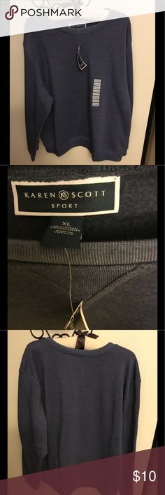 NWT Karen Scott Blue Sweatshirt Sz Xl New Karen Scott Blue Warm Soft Sweatshirt Sz Xl Karen Scott Tops Sweatshirts & Hoodies
