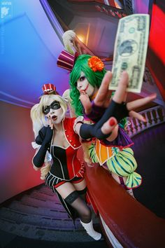 Harley Quinn (Ryoko Demon) and Lady Joker (Rei-Doll) from DC Universe