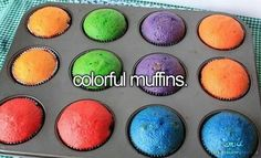 colorful muffins.
