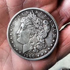 Two weeks ago, on April 24, Reddit user Daniel May was buying cigarettes at a Los Angeles gas station when he received a 113-year-old coin as change.    May told The Huffington Post that at first he didn't realize the coin's value, but after a closer look and a bit of research, he learned that he was in possession of a silver dollar minted in Philadelphia in 1900.