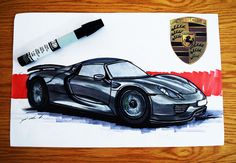 Porsche 918 spyder (2015) #Porsche #919 #spyder  #sketchzone #drawtodrive #drawingoftheday #sketchbook #sketchoftheday #drawings #sketch #cardesign #drawsomething #drawings #markers #marker #drawingoftheday #sketchoftheday #chartpak #skechtmexico #carsketch #pencildraw #pencilsketch #drawingpen #garageart #instaartist  #automotiveart #automotivedesign