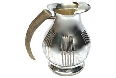Silver Plate & Horn Handle Pitcher