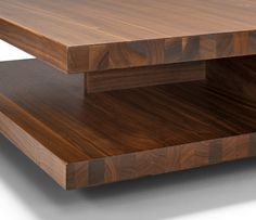 Close Up Detail Of The C3 Modern Wood Coffee Table Shown In Walnut