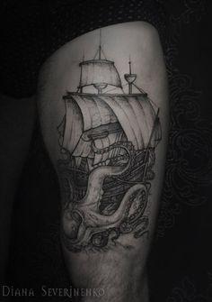 52 modèles de tatouage licorne ailé - 3 https://tattoo.egrafla.fr/2016/02/25/modeles-tatouage-bateau/