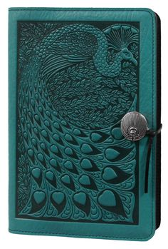 Leather Journal Cover | Diary | Peacock in Teal