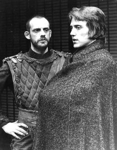 "Christopher Walken as Macbeth, with Christopher Lloyd as Banquo, 1973.  A review said ""All his line readings are . . . weird."""
