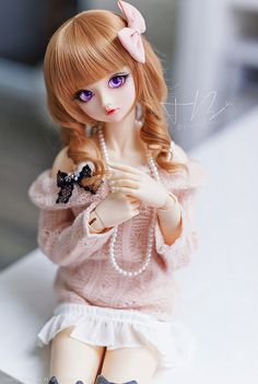 Sumire-chan looks just like a doll (well she's a doll) with this wig XD ------------------------------------ Sumire - Volks SDgr Anime Dolls, Ooak Dolls, Blythe Dolls, Divas, Barbie, Kawaii Doll, Gothic Dolls, Poppy Parker, Smart Doll