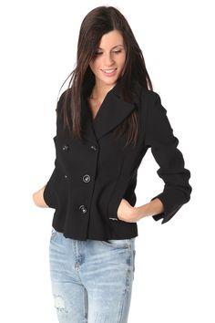 Q2 Black Wrap Soft Blazer
