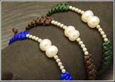 Pulsera de perlas y plata