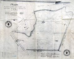 Reprodução de mapa do Passeio Público em 1887.