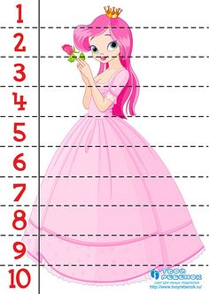 Kindergarten Readiness, Preschool Math, Kindergarten Worksheets, Princess Activities, Kids Learning Activities, Toddler Classroom, Maths Puzzles, Learning Time, Games For Toddlers